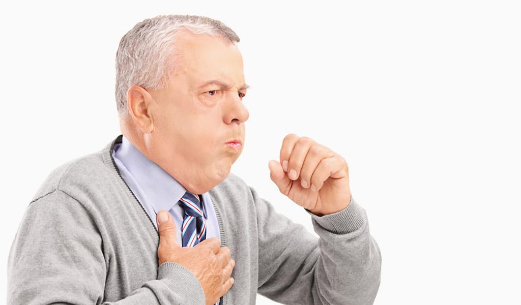 COPD-Patient hustet