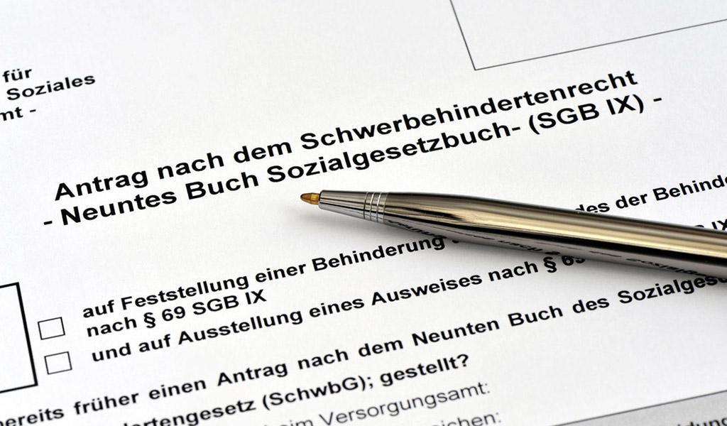 Antrag für einen Schwerbehindertenausweis